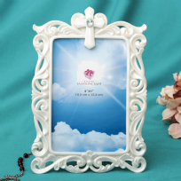 Pearl White Cross Photo Frame 4x6""